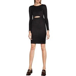 Bcbgmaxazria Whitney Faux Suede Cutout Dress